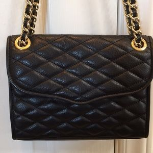 Rebecca Minkoff mini quilted Affair leather black
